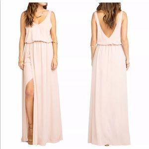 Show Me Your Mumu Kendall V-Back A-Line Pink Gown